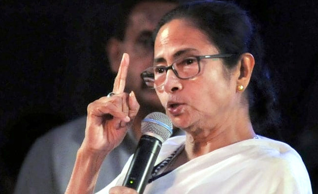 Mamta Banarjee on mic