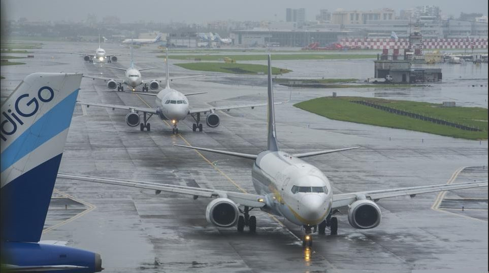 Flights halted at Mumbai airport.