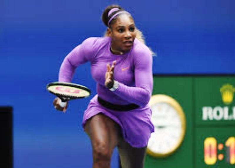 Serena Williams in match